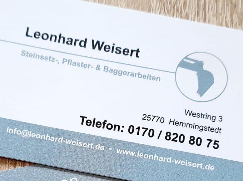 Kontakt Leonhard Weisert, 25770 Hemmingstedt